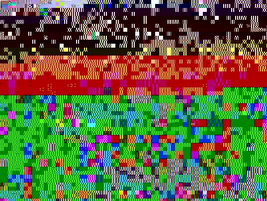 paysage aux pastels sur feuille Pastelcard 30x40cm