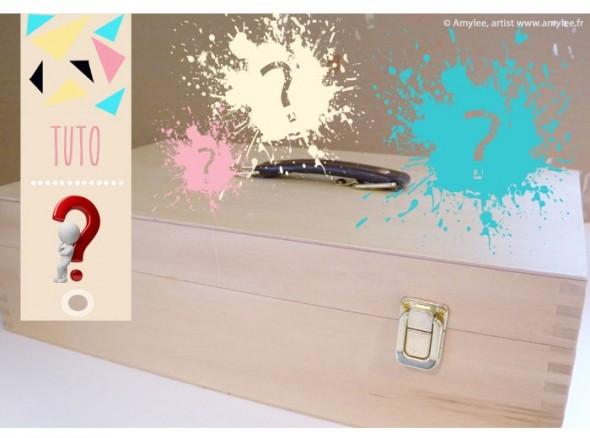 """Tuto : Comment rendre """"transparent"""" un coffret en bois ? par Amylee"""