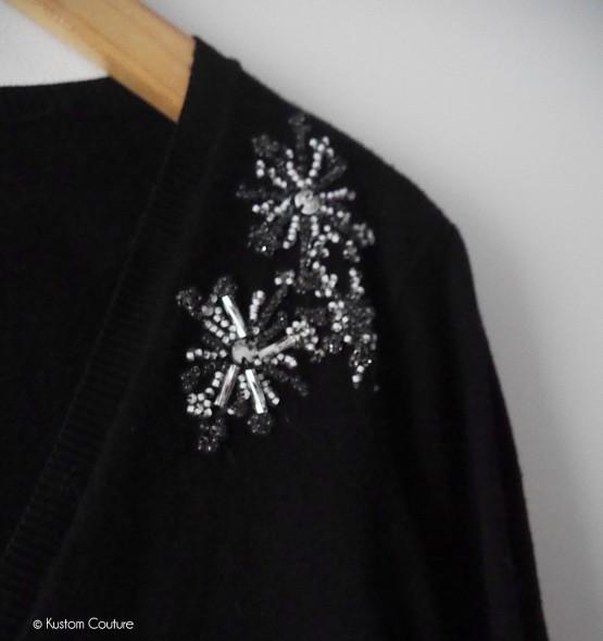 Tuto DIY : gilet brodé de fleurs perlées par Kustom Couture