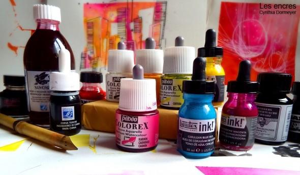 Acrylique, aquarelle ou de Chine : quelle encre choisir ? par Cynthia Dormeyer