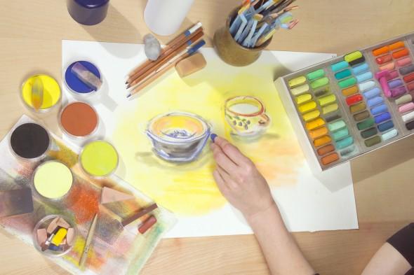 Découvrez PANPASTEL™, les pastels ultra-tendres en godets