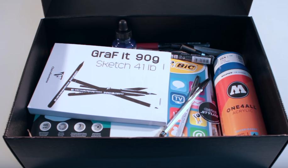 La box de l 39 artiste - Geant beaux arts paris ...