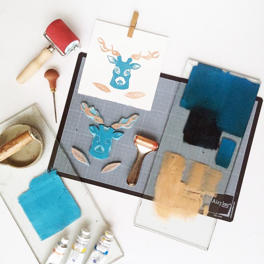 Cartes tamponn es bicolores par jessica pliez - Geant beaux arts paris ...