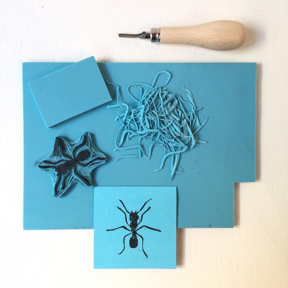 Tampon fourmis par l 39 artiste isabelle kessedjian - Geant des beaux art paris ...
