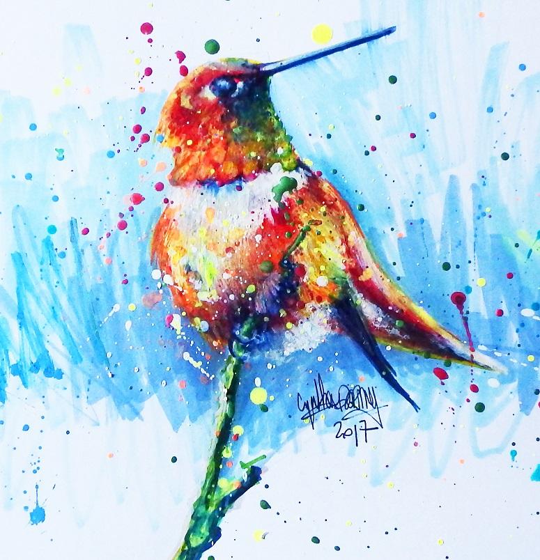 Apprendre dessiner un oiseau color en technique mixte - Geant beaux arts paris ...