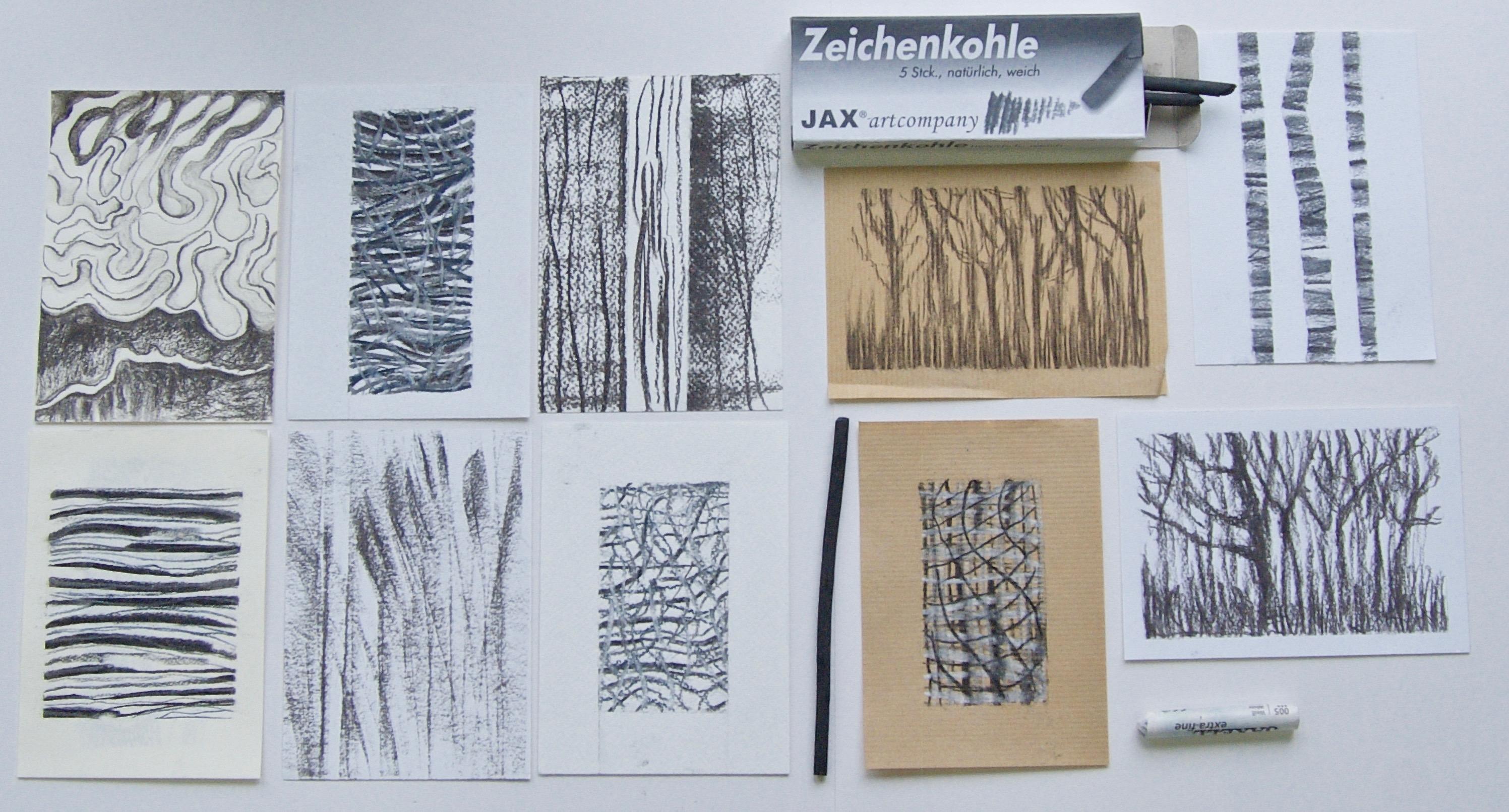 Test des blocs gerstaecker au fusain et au crayon sanguine - Geant des beaux art paris ...