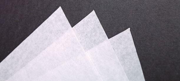 feuilles de papier mousseline