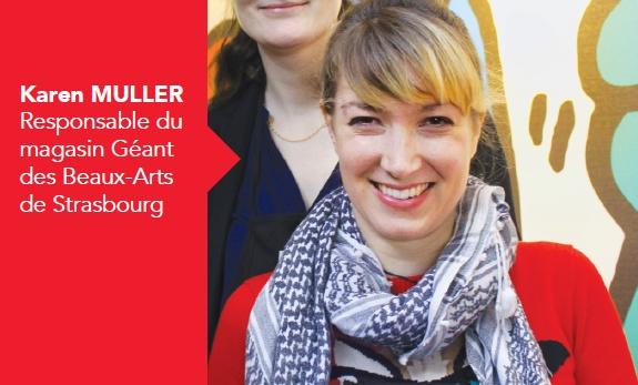 Karen Muller, responsable du magasin Le Géant des Beaux-Arts de Strasbourg