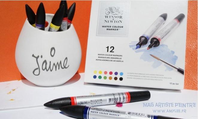 Marqueurs aquarelle Winsor&Newton : test par Amylee