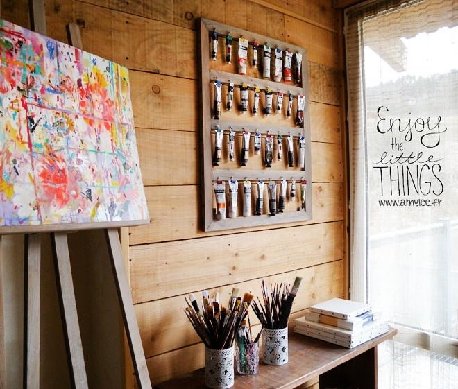 Présentoir pour tubes de peinture par Amylee