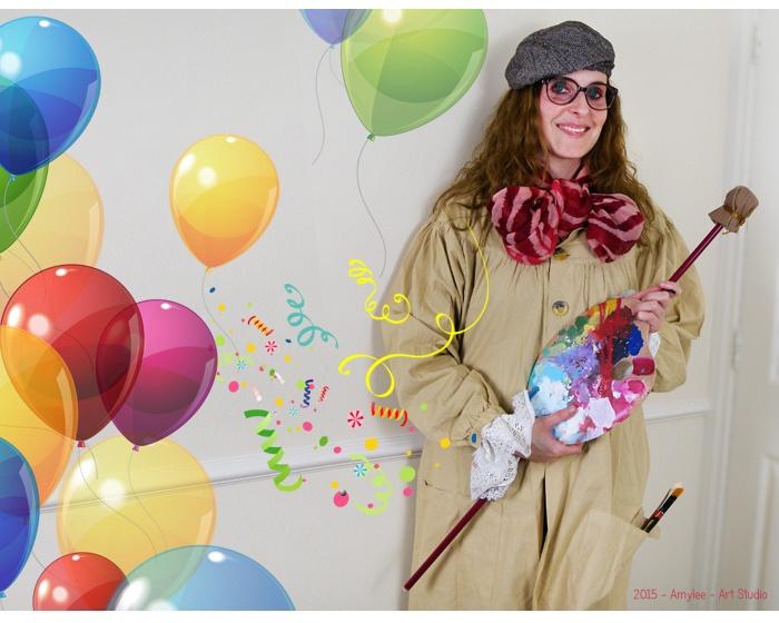 Soirée déguisée : créer son déguisement d'artiste par Amylee