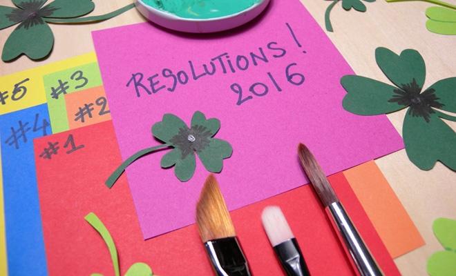 Top 16 des bonnes résolutions 2016 de l'artiste ! Par Amylee