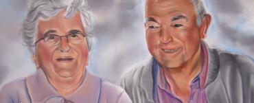 Mes grands parents aux pastels secs - Speed drawing par l'artiste Cindy Barillet