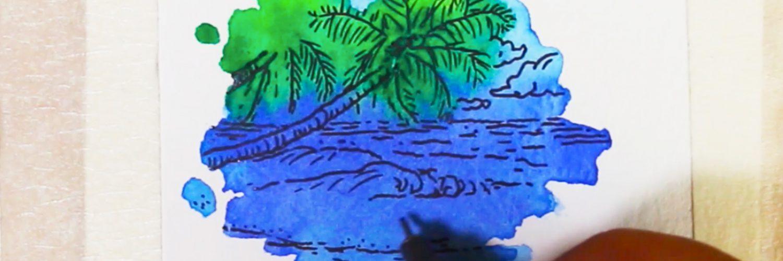 Speed painting : minimalist landscape #9 par Bruno Bosse