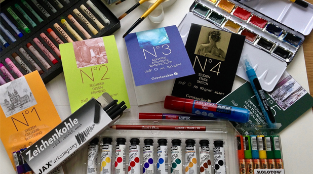 From GreatArt Materials Blog: Jo York - Comparing the No 1-2-3-4-5 Papers