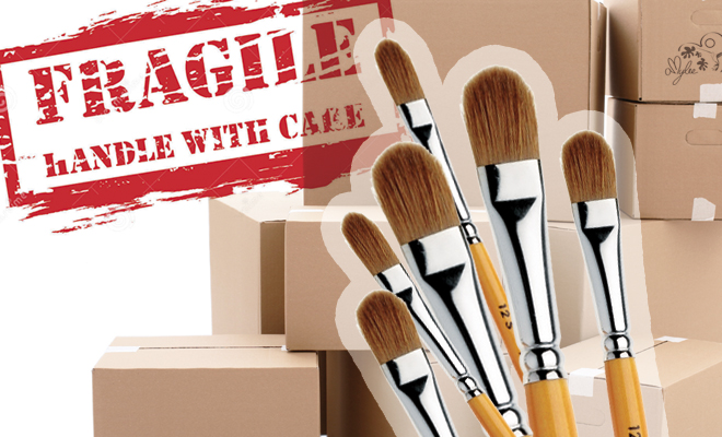 How to Pack Artists' Brushes when Moving by Amylee