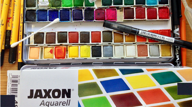Working with Jaxon Watercolours