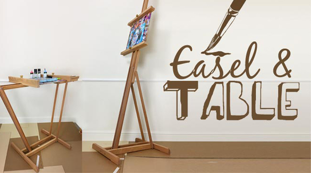 An Easel into a Table - Mabef M25 Lyre Easel