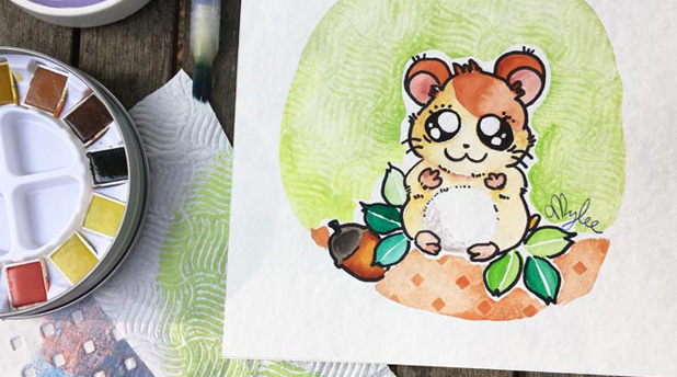 Easy ways to make Watercolour Patterns