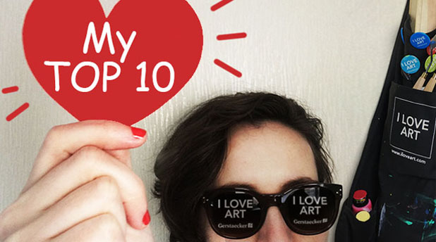 Amylee's Top 10 Favourites from I Love Art