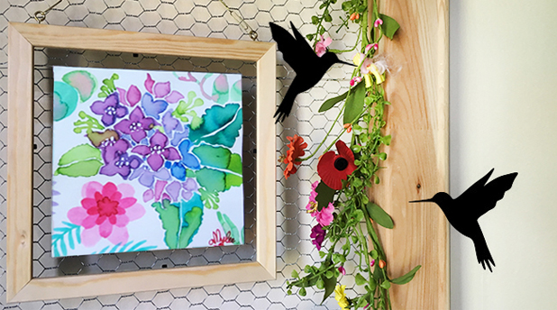 DIY Floating Glass Frame from Amylee Paris