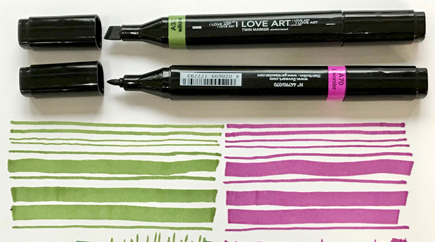 I Love Art Twin Markers by Jo York