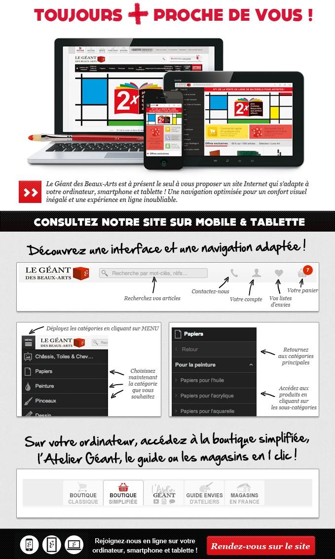 le site internet est pr sent accessible sur tablette et mobile l 39 atelier g ant. Black Bedroom Furniture Sets. Home Design Ideas
