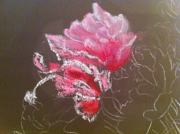 B gonias au pastel par patricia soulier l 39 atelier g ant - Le geant des beaux arts bordeaux ...