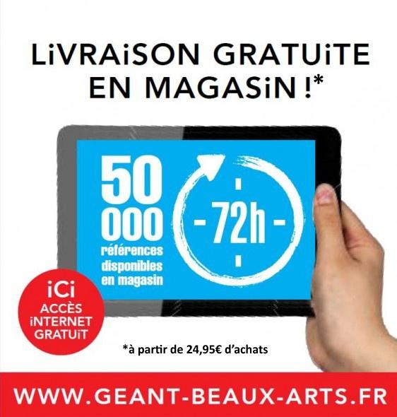 Livraison gratuite en magasin à partir de 24,95€ d'achats !