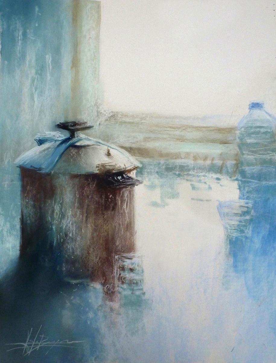 Chez Chloé, aquarelle 46 x 61 cm