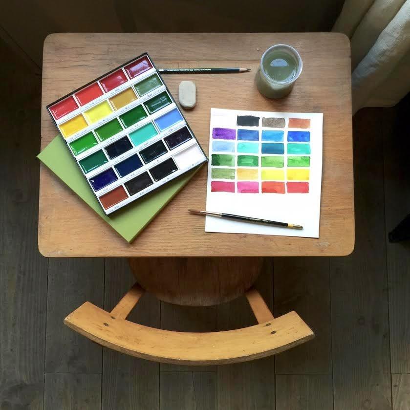 test de l 39 aquarelle gansai par isabelle kessedjian l 39 atelier g ant. Black Bedroom Furniture Sets. Home Design Ideas
