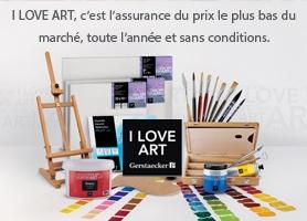 I LOVE ART, l'assurance du prix le plus bas du marché