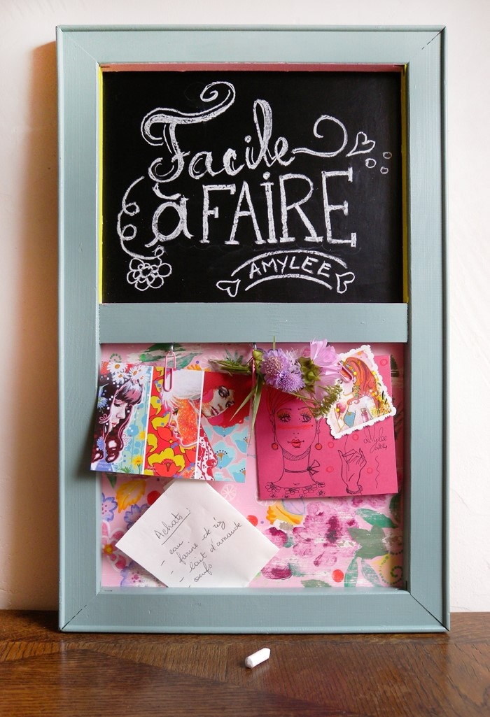 diy fabriquer un tableau m mo avec un ch ssis par amylee l 39 atelier g ant. Black Bedroom Furniture Sets. Home Design Ideas