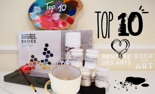 Rentrée artistique : Mon top 10 matériel par Amylee