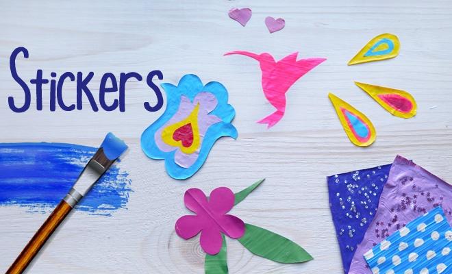 Tuto DIY : comment faire des stickers à la peinture acrylique par Amylee