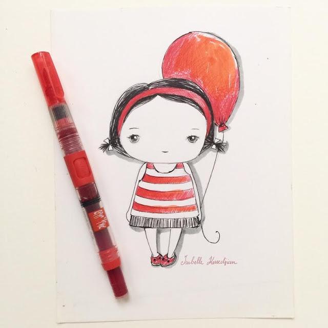 Utiliser un pinceau à réservoir pour dessiner à l'encre par Isabelle Kessedjian