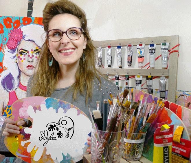 Amylee, artiste peintre et blogueuse