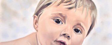 Portrait de Bébé au pastel + Réparer une erreur de croquis par Cindy Barillet
