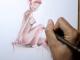 Esquisse d'un nu aux Polychromos par Charly Debray