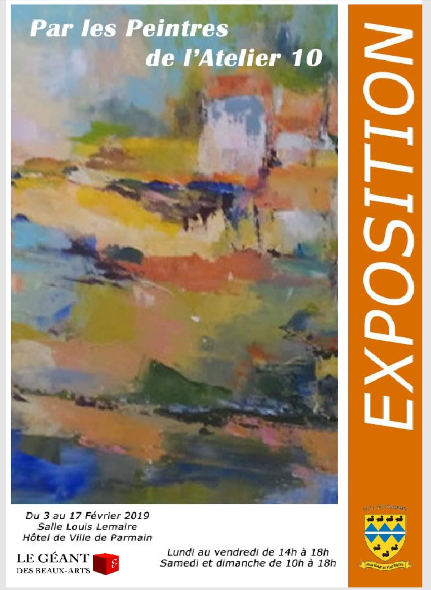 Exposition à Parmain, par les Peintres de L'Atelier 10